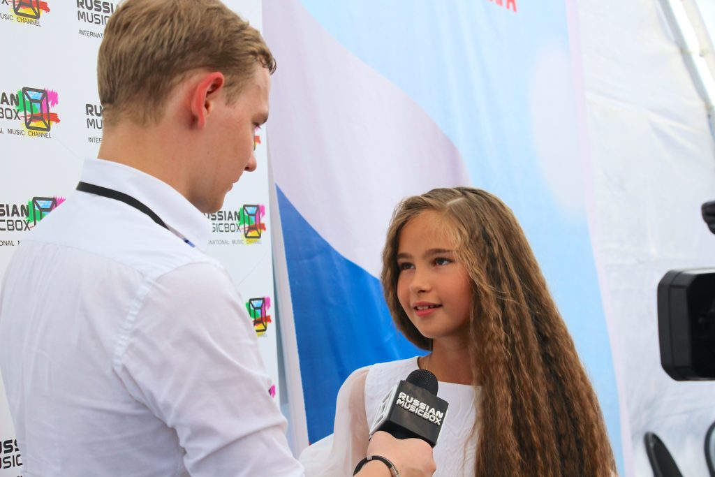 Александра Абрамейцева участвует в концерте, посвященному Дню Флага России