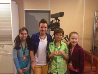 Александра Абрамейцева на телеканале «Карусель»